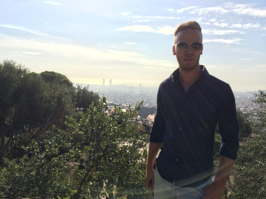 Blick vom Gaudi Park Barcelona