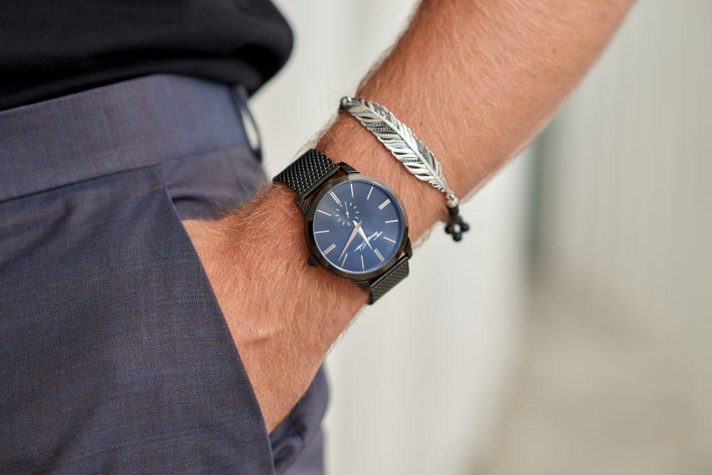 Details Thomas Sabo Uhr Watch Bracelet Black Silver