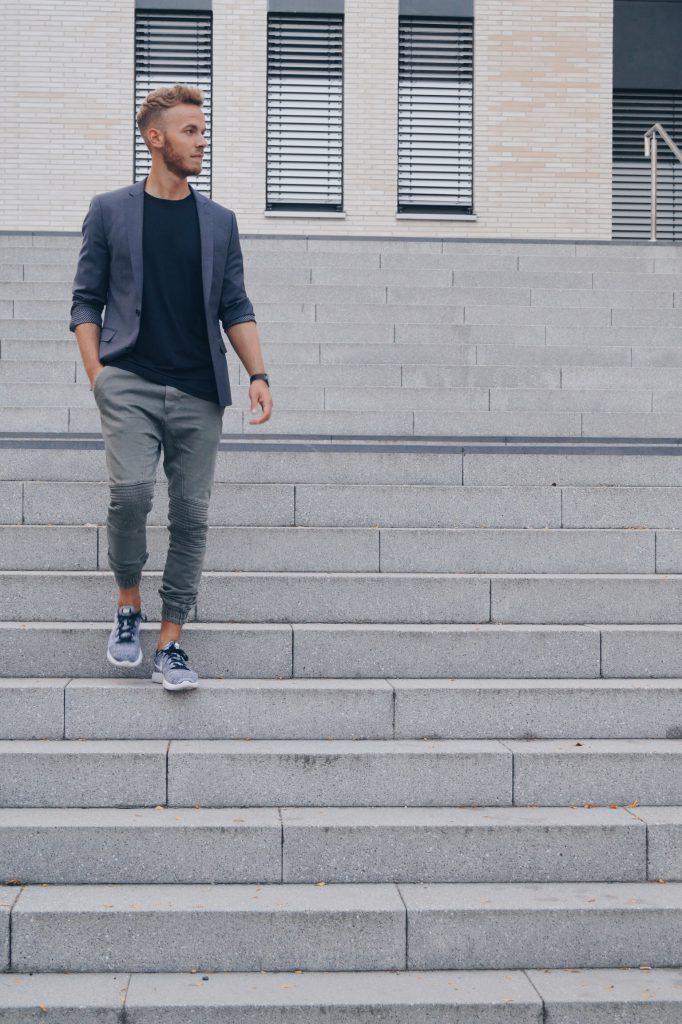 Bikerjeans Blazer Fashionblog Herren Männer
