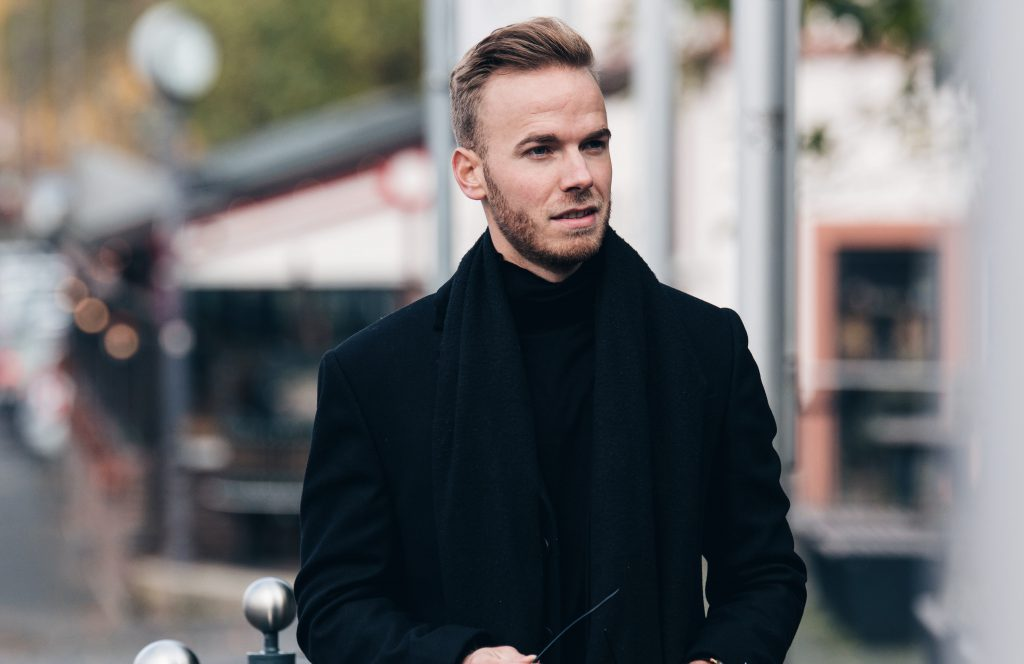 All Black Everything outfit with danie wellington