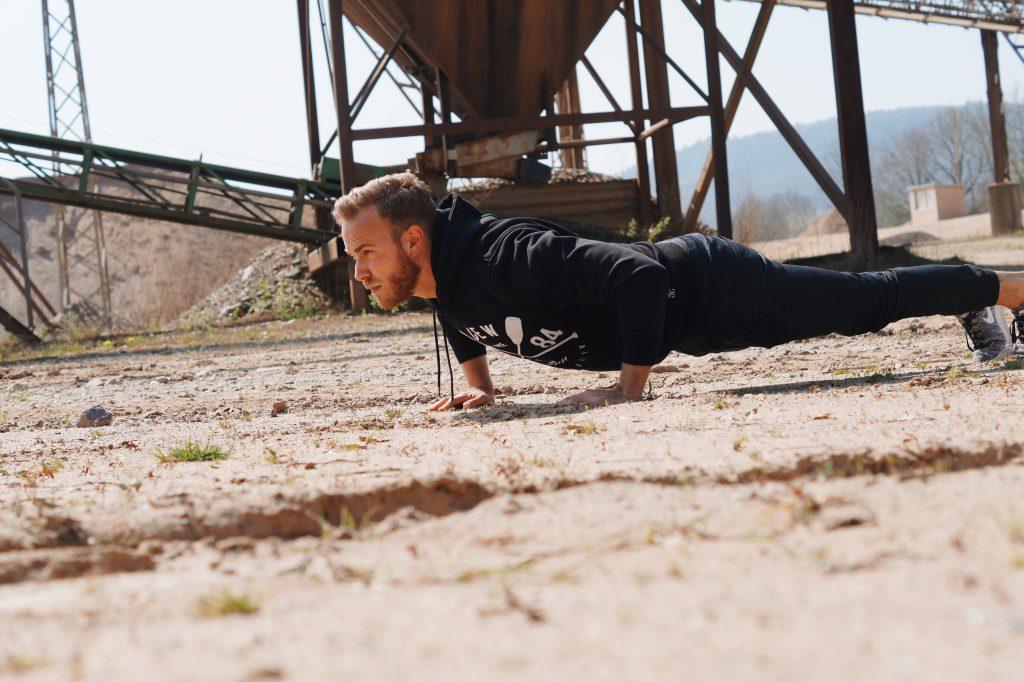 Fitness Workout im Freien