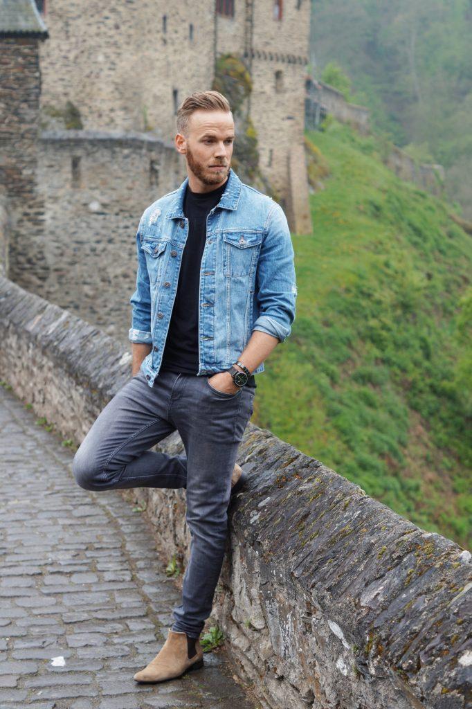 Outfit Jeansjacke richtig kombinieren Jeans Jacke Denim Jacket Blog Blogger Fashionblogger Fashion Mode Herren Männer