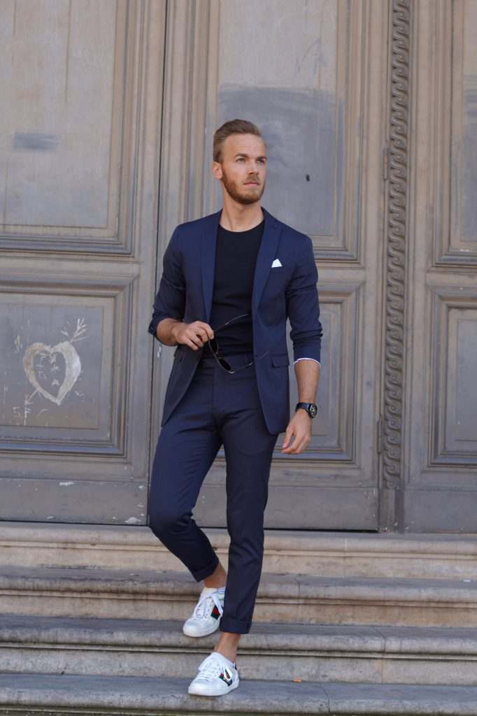 Mens spring suit paris blog blogger style and fitness herren männer mode