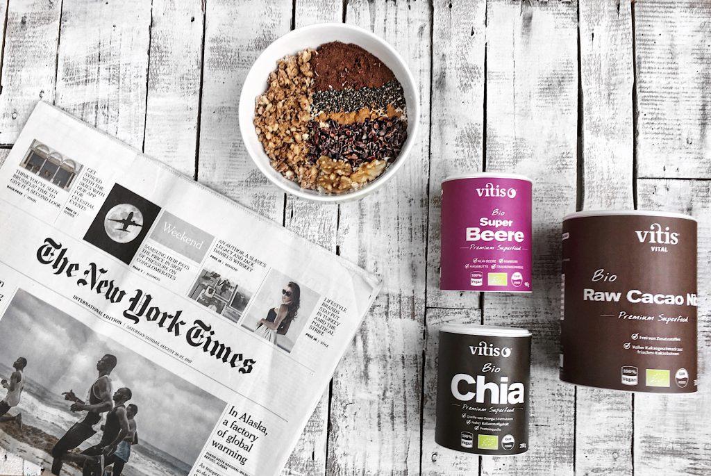 Lifestyle - Superfood mit Vitis Vital Fitness Rezepte Rezept Fit Eiweiss Protein Supplements Bio Vegan Proteinpulver Pulver Protein Shake Abnehmen Aufbau muskeln