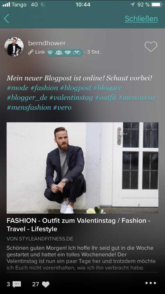 vero app instragram bernd hower blogger blog fashion travel lifestyle styleandfitness.de