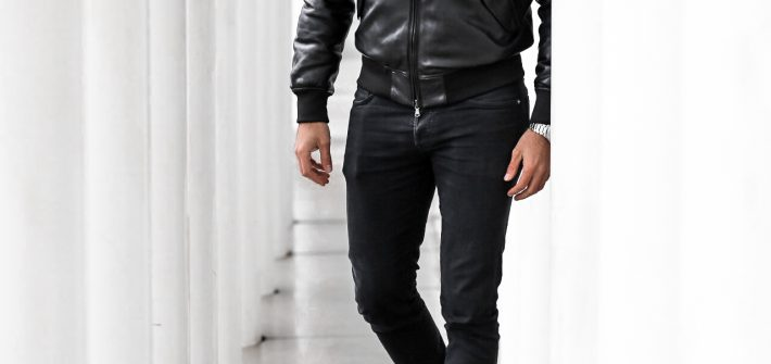 FASHION - Allblack Look mit Lederjacke blauer USA blogger Deutschland fashion blogger Männer mode Frauen blog outfit Bernd Hower berndhower