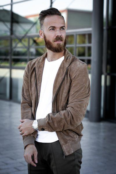 FASHION - Lederjacke richtig kombinieren blogger jacke leder männer herren blogger deutschland tipps