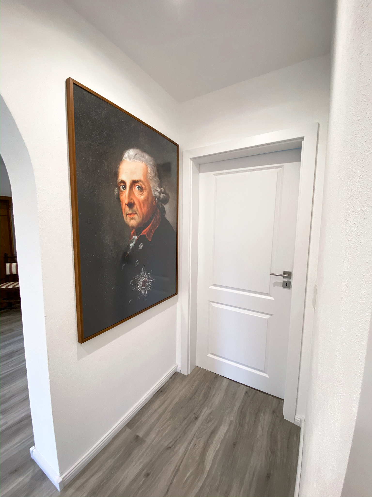 König Friedrich II. Poster Friedrich der Große Leinwand Posterlounge Wandbild König von Preußen der alte Fritz vorher nachher vergleich Hausbau sanierung